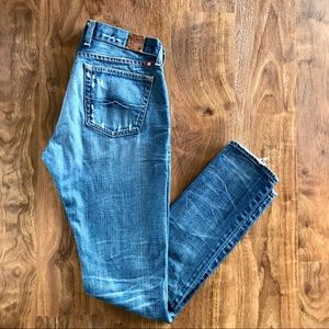 Lucky Brand Riley Slouch Distressed Skinny Jeans
